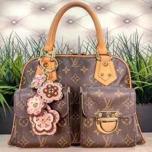 Authentic Louis Vuitton Manhattan PM Monogrammed